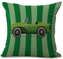 כרית נוי מכונית ירוקה - רהיטי עינבל
