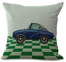 כרית נוי מכונית כחולה