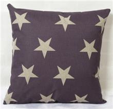 כרית נוי אפורה כוכבים - רהיטי עינבל