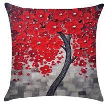 כרית נוי פריחה אדומה - רהיטי עינבל