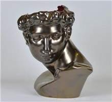 פסל ראש רומי דקורטיבי
