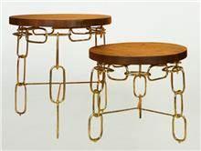שולחן צד שרשרת נחושת גבוה