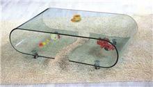 שולחן סלון מזכוכית מכופפת - Green house