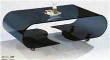 שולחן סלון זכוכית על גלגלים - Green house