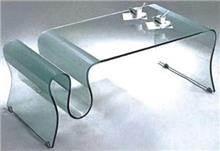 שולחן זכוכית גל - Green house