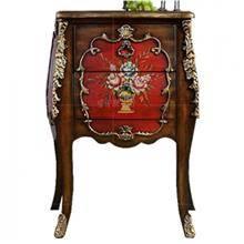 שולחן צד עץ מלא בעבודת יד - Green house