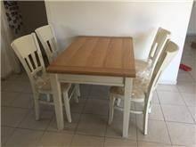 שולחן אוכל שחר אלון עץ מלא - Green house