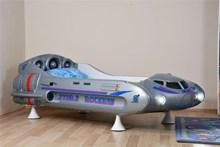 מיטה לילדים דגם ספינת חלל - רהיטי עטרת