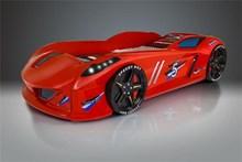 מיטת מכונית אדומה דגם יגואר - רהיטי עטרת