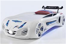 מיטת רכב לילדים דגם מקלארן לבן - רהיטי עטרת