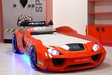 מיטת מכונית לילדים דגם ונטו אדום - רהיטי עטרת