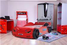 מיטת רכב לילדים דגם רייסר אדום 3 - רהיטי עטרת