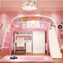 מיטת גלריה ורודה לחדר ילדים - רהיטי עטרת