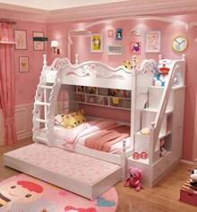 מיטת קומותיים לילדים דגם 103 עם מיטת חבר ומדרגות