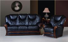 סלון עור יוקרתי בעיצוב איטלקי (1) - רהיטי עטרת