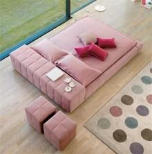 מיטה זוגית דגם B09 pink - רהיטי עטרת