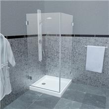 מקלחון פינתי צירים CAMELLIA 126 - ArtGlass