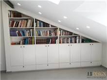 ספריה עם ארונות אחסון - A.B DESIGN