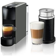 מכונת קפה NESPRESSO ESSENZA MINI בצבע אפור דגם C30 כולל מקציף חלב ארוצ'ינו - חשמל נטו