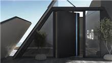 דלת כניסה דגם 1020 שחור - טקני דור