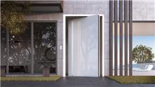 דלת כניסה דגם 1020 זכוכית לבנה