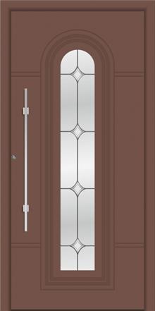 דלת כניסה דגם 1105-RAL-8025 - טקני דור