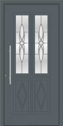 דלת כניסה דגם 1110-RAL-7012 - טקני דור