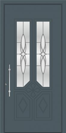 דלת כניסה דגם 1115-RAL-7011 - טקני דור