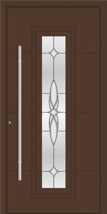 דלת כניסה דגם 1120-RAL-8025 - טקני דור