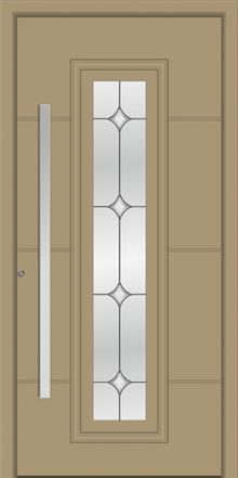 דלת כניסה דגם 1121-RAL-1019 - טקני דור