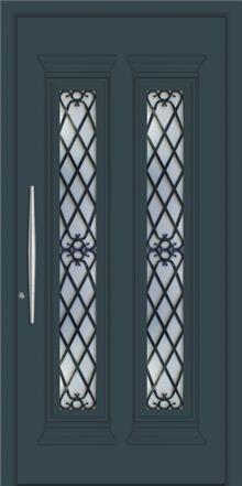 דלת כניסה דגם 1135-Ral-7026 - טקני דור