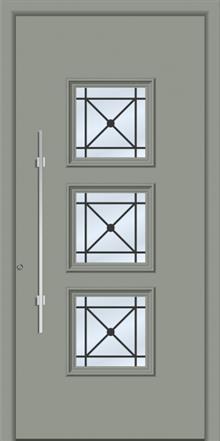 דלת כניסה דגם 1140-RAL-7042 - טקני דור