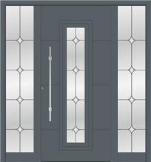 דלת כניסה 1121-2-MISA-RAL-7012 - טקני דור