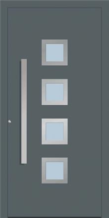 דלת כניסה 1280-RAL-7012 - טקני דור