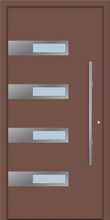 דלת כניסה 1325-RAL-8025 - טקני דור