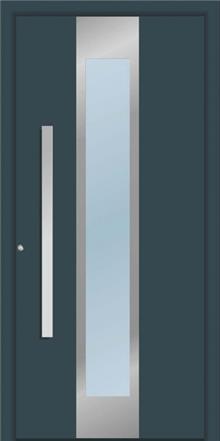 דלת כניסה 1345-RAL-7026 - טקני דור