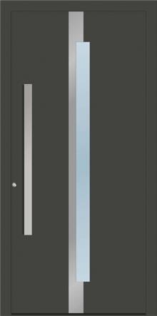 דלת כניסה 1350-NEW-1-RAL-7022 - טקני דור