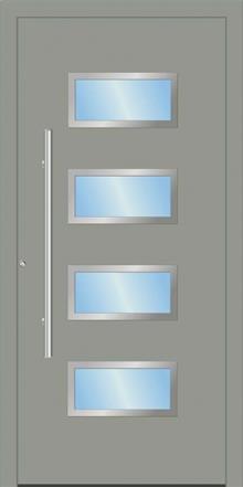 דלת כניסה 1362-RAL-7042 - טקני דור