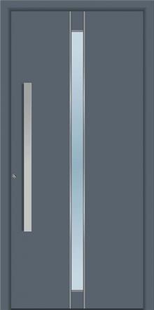 דלת כניסה 1425-RAL-7012 - טקני דור