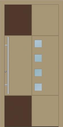 דלת כניסה 1455-RAL-1019-Ral-014 - טקני דור