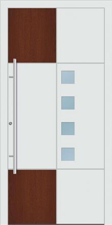 דלת כניסה 1455-White-wood - טקני דור