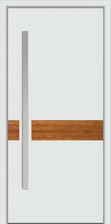 דלת כניסה 1470-white-wood - טקני דור