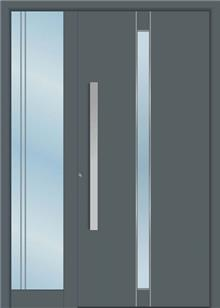 דלת כניסה 1425-MISO-RAL-7012 - טקני דור
