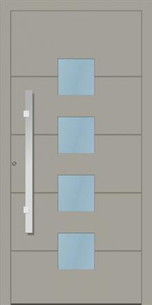 דלת כניסה 1160-RAL-7030 - טקני דור