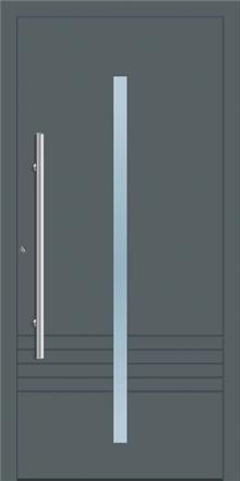 דלת כניסה 1165-RAL-7012 - טקני דור