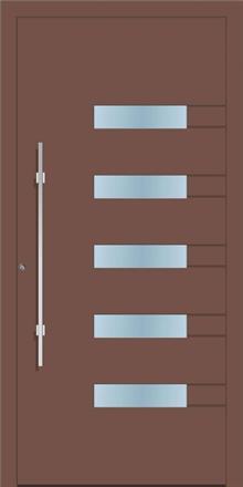 דלת כניסה 1180-RAL-8025 - טקני דור