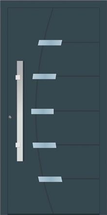 דלת כניסה 1621-RAL-7026 - טקני דור