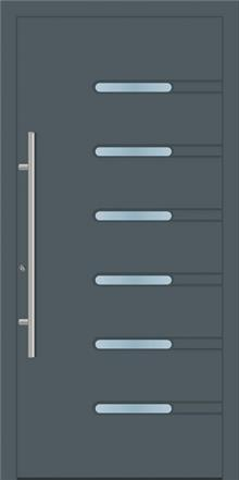 דלת כניסה 1732-RAL-7011 - טקני דור
