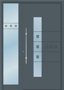 דלת כניסה 1190-MISO-RAL-7011 - טקני דור