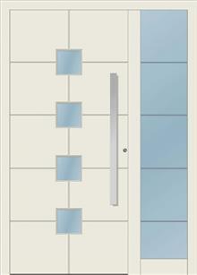 דלת כניסה 1712-MISO-RAL-9002 - טקני דור